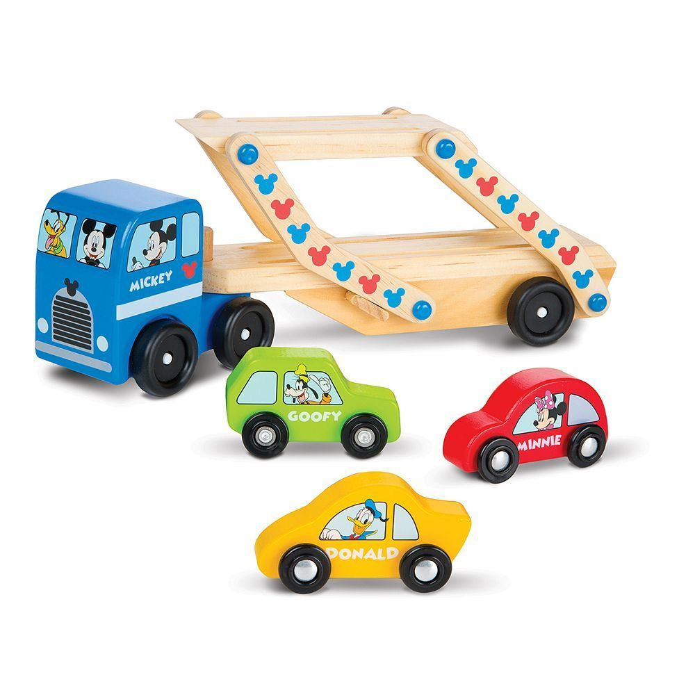 Melissa Doug Mickey Mouse Clubhouse Wooden Car Carrier In