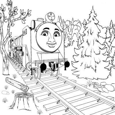 Thomas Tank Engine Winter Coloring Pages For Kids - Winter ...