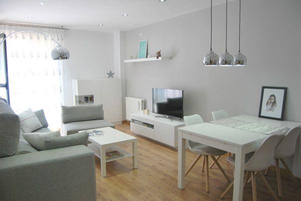 Nuestro salón de estilo nórdico Salons, Living rooms and Apartments