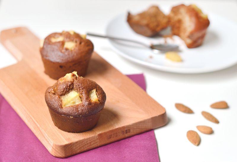 muffins vegan et sans gluten aux poires vegans pear muffins and food deserts. Black Bedroom Furniture Sets. Home Design Ideas