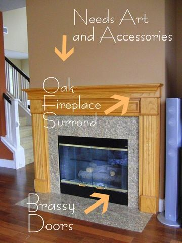 Centsational Girl: Painting an oak fireplace and surround | {house ...