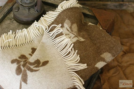 Soft Lightweight #Floral #Jacquard #Wool #Throw #Blanket by #EpicLinen