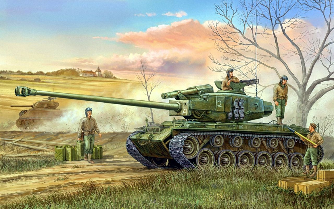 1945 M26 Pershing Vincent Wai Art tanks, Tanks
