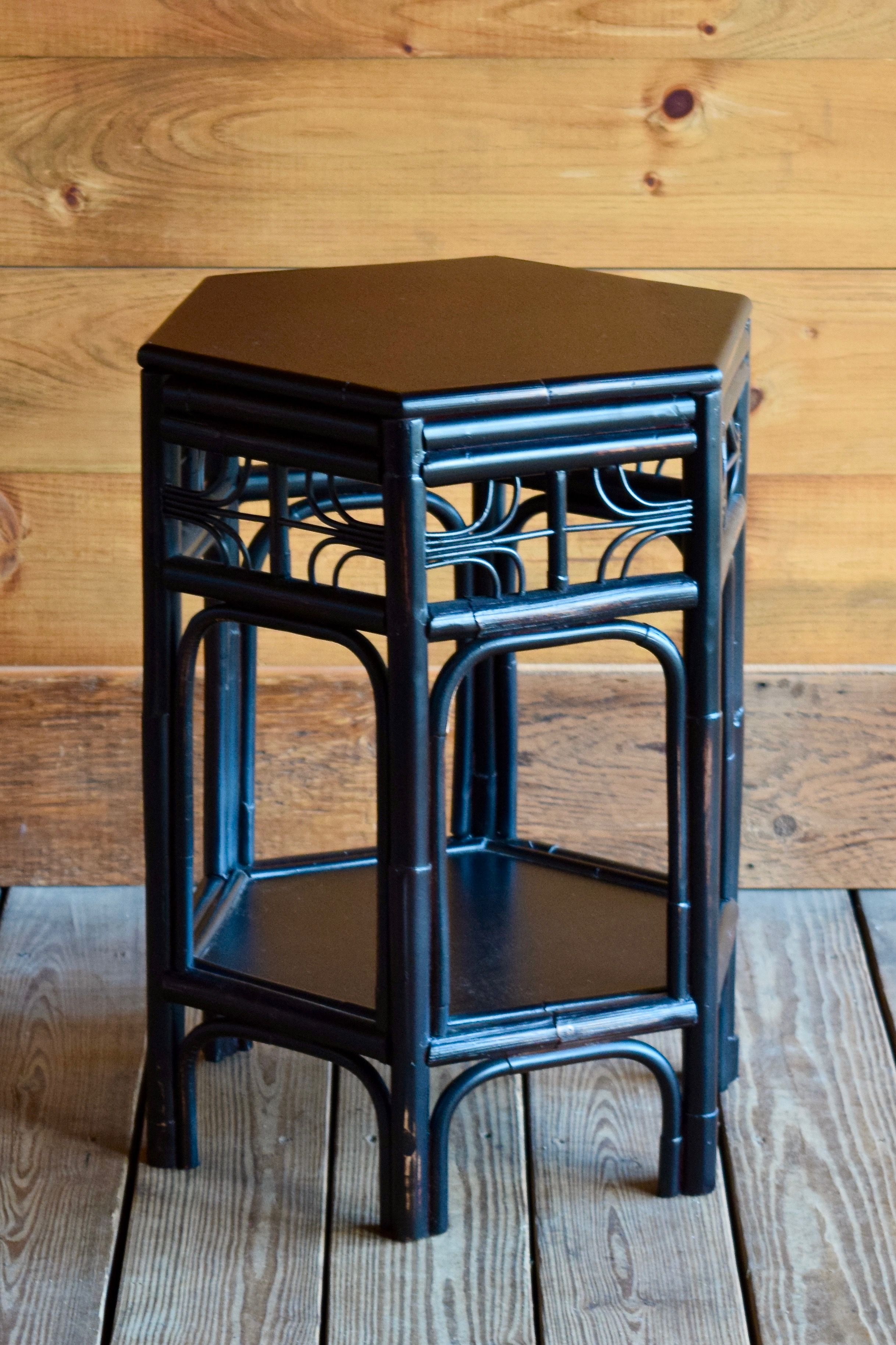 Chinoiserie Rattan End Table In 2020 Rustic Furniture Stores Rustic Furniture Chinoiserie