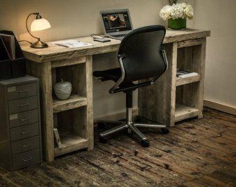 timber office desk. Chunky Rustic Single Pedestal Desk Genuine Reclaimed Timber Office