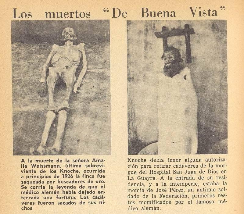 Artículo sobre las momias de Dr. Knoche