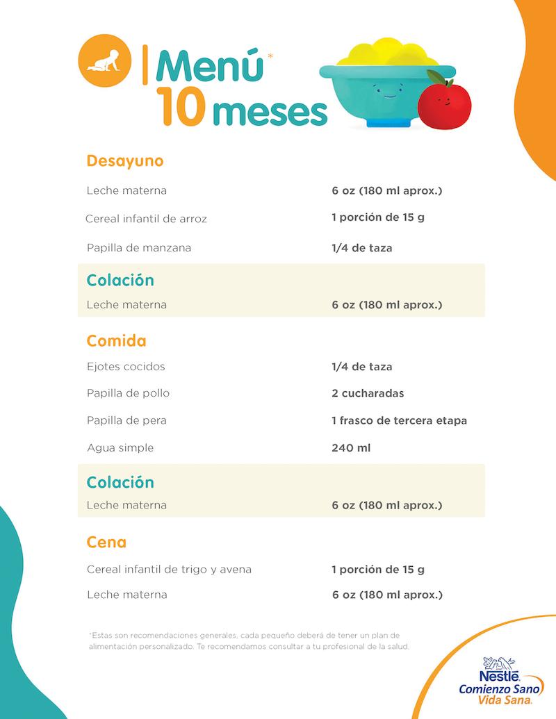 Menú Para Bebés De 10 Meses Alimentacion Bebe 9 Meses Recetas De Comida Para Bebés Alimentacion Bebe