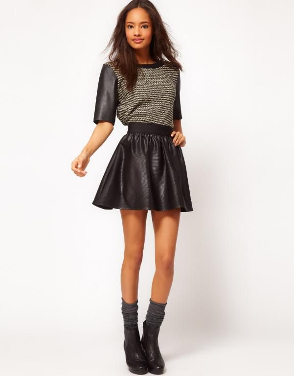 Asos Spodnica 36 Rozkloszowana Skora W Polsce Fashion Clothes Online Skater Skirt Fashion