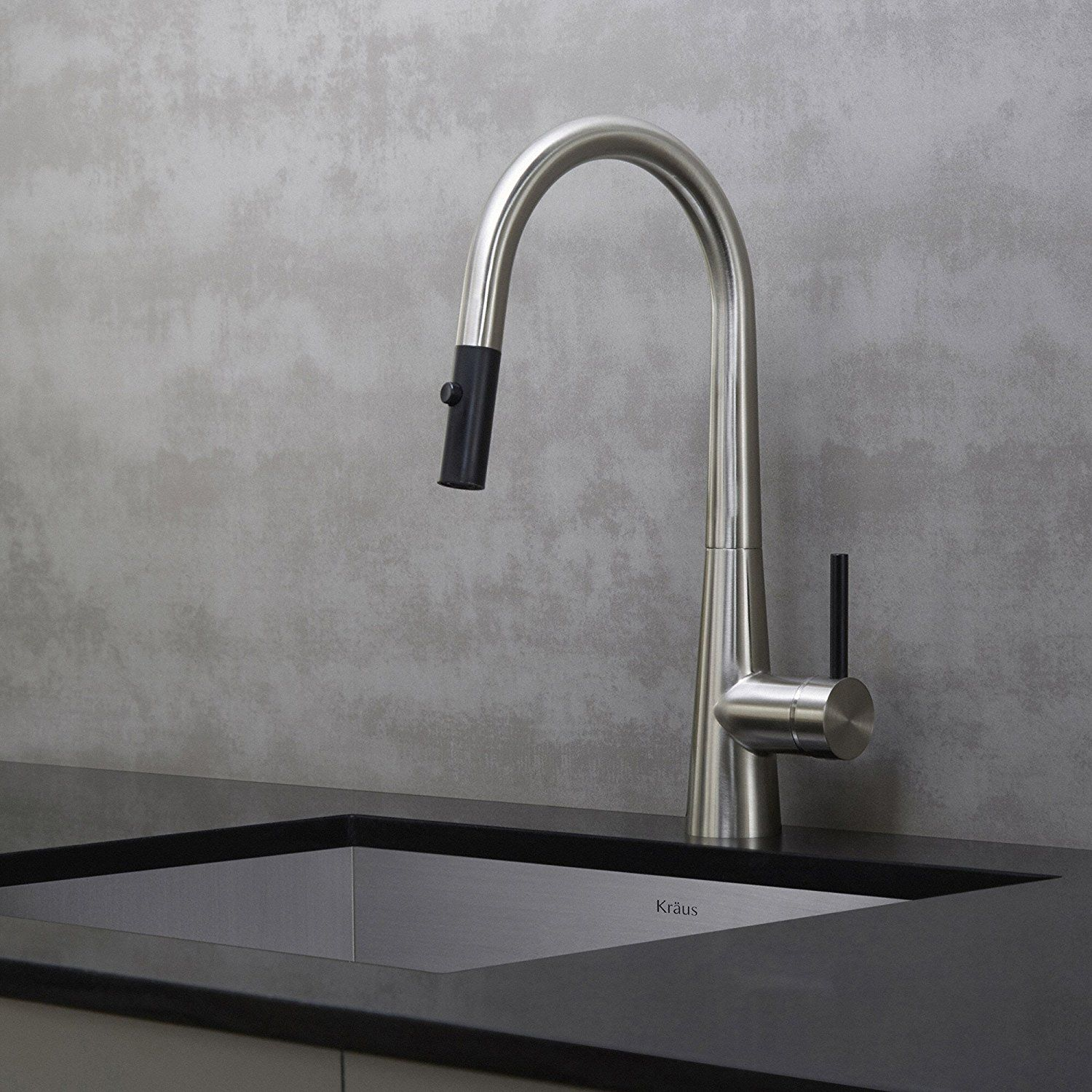 Kraus KPF 2620SS Modern Oletto Single Lever Pull Down Kitchen Faucet,  Stainless Steel