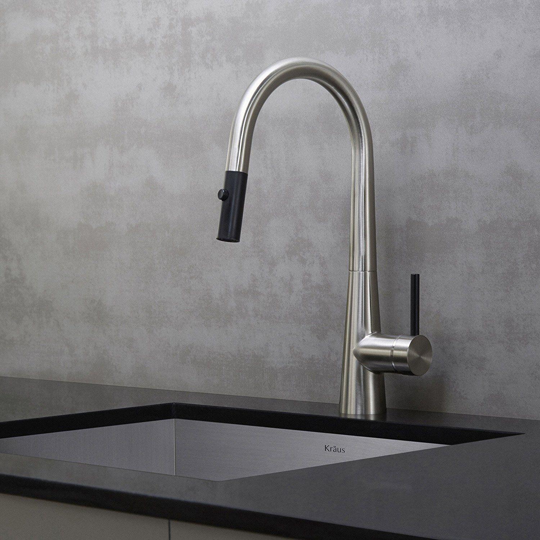 Kraus Kpf 2620ss Modern Oletto Single Lever Pull Down Kitchen
