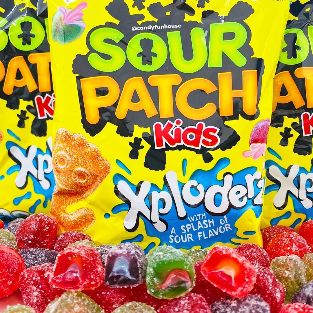 Candy Funhouse On Instagram Sour Patch Kids Xploderz Are A Soft And Chewy Candy With A Flavorful Xploding Inside Sour Patch Kids Sour Patch Chewy Candy
