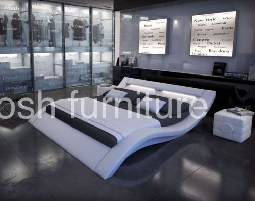 Monaco King Size Modern Style Platform Bed White | eBay 1300 ...