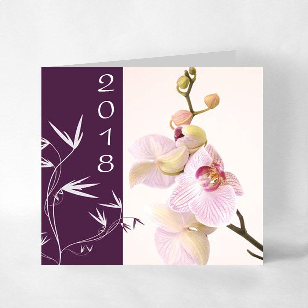Carte de voeux fleur et nature impression sur papier mat Impression carte de voeux