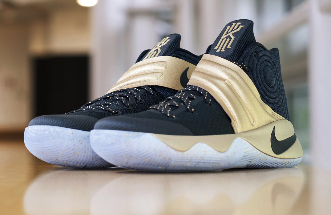 Gold Highlights This Nike Kyrie 2 Finals PE