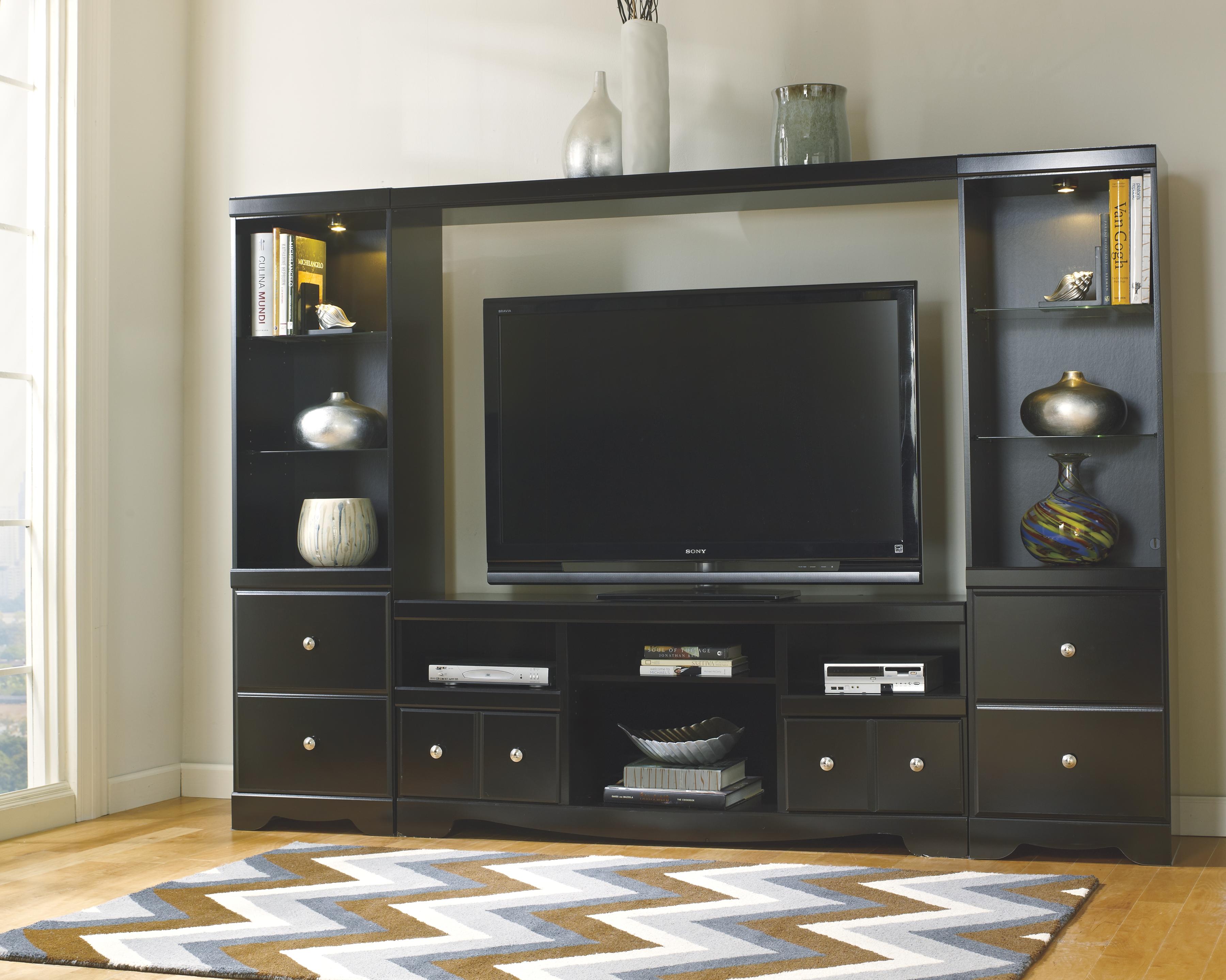 Shay piece entertainment center black products pinterest