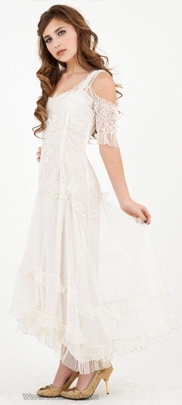Venetian Ivory Vintage Dress