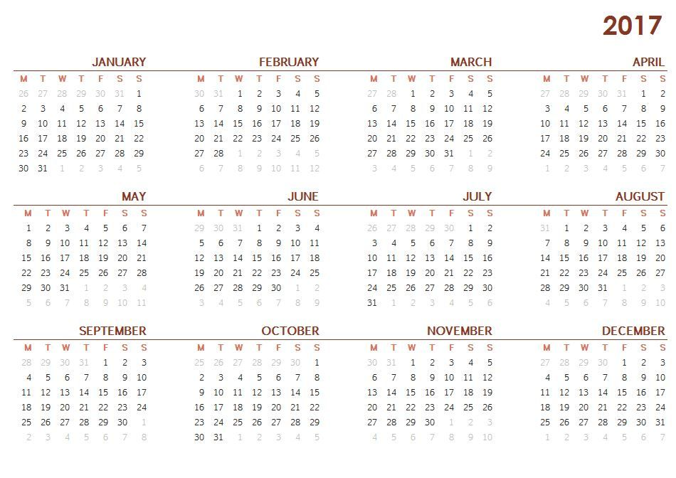 Printable Calendar One Page  An Organized Home