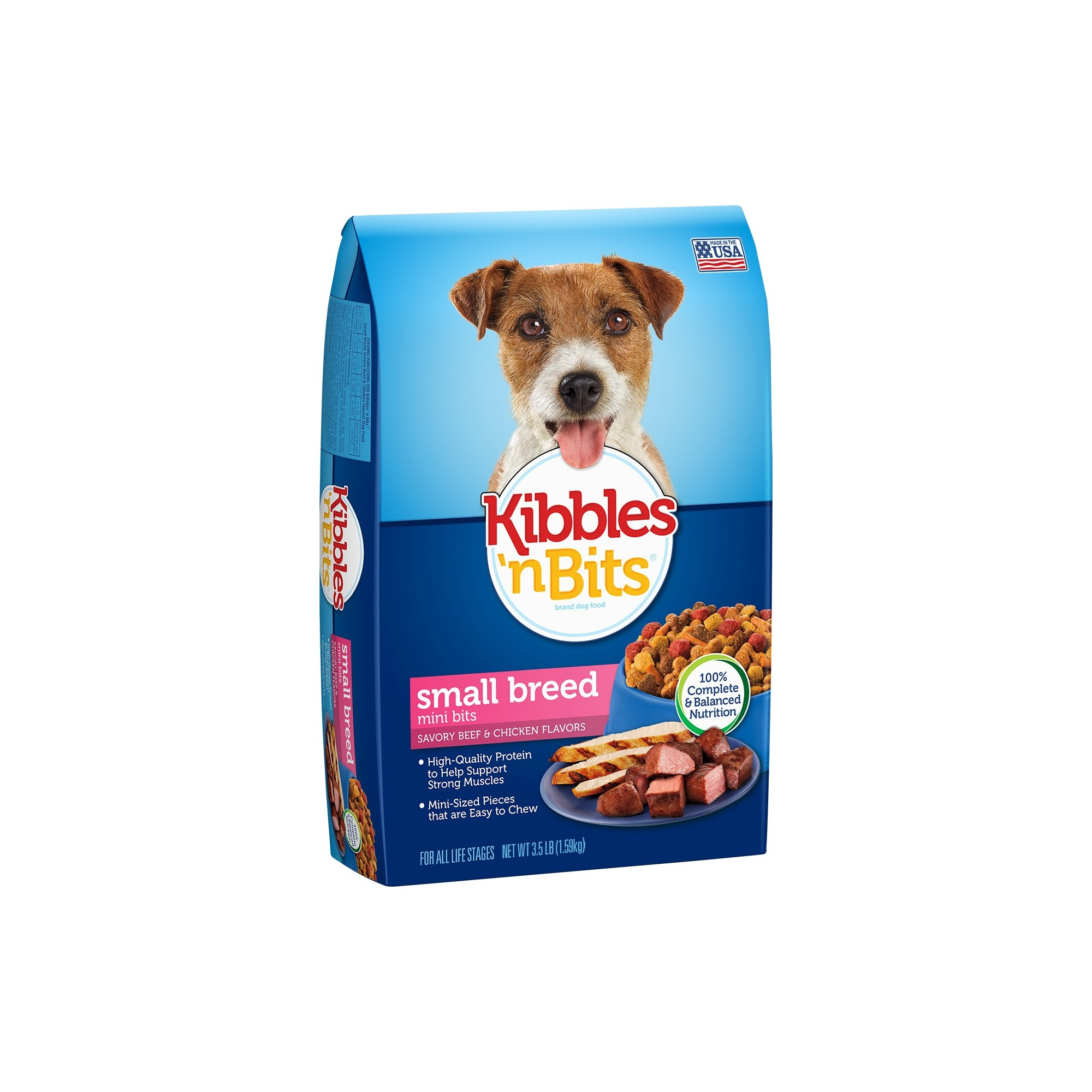 Kibbles N Bits Small Breed Beef And Chicken Dry Dog Food