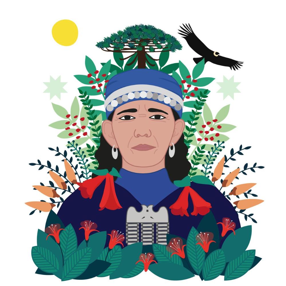 Machi Mujer Mapuche Dibujo Busqueda De Google Arte Mapuche Concursos De Arte Dibujos