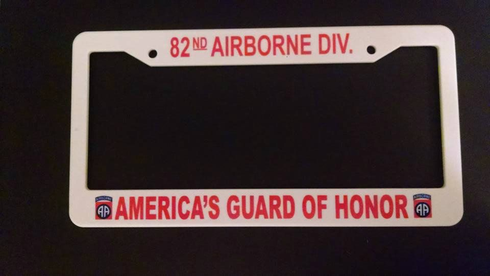 82nd Airborne Division License Plate Frame License Plate Frames 82nd Airborne Division Military Memorabilia