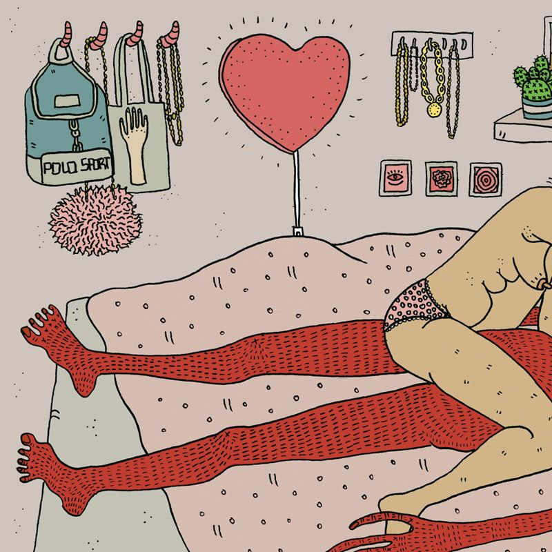 I Just Can't.... Illustration by Polly Nor - POLLYNOR
