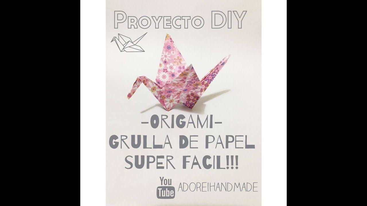 Origami Como Hacer Grullas De Papel Super Facil Origami