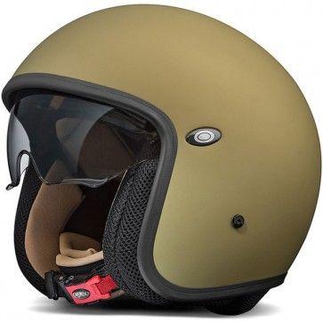 Premier Vintage Matt Green Vintage Helmet Motorcycle Helmets Vintage Biker Helmets