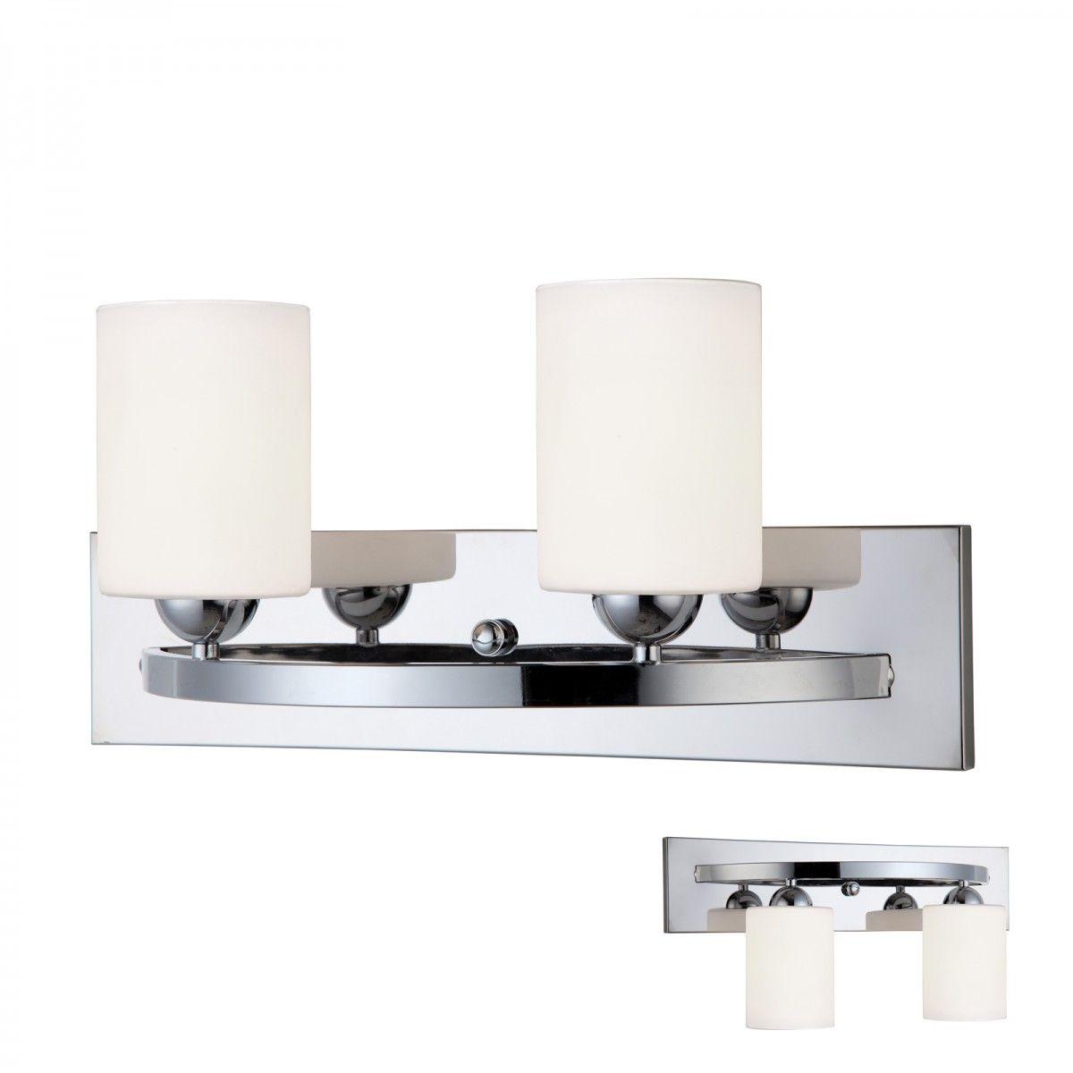 Canarm Ivl370a02ch O Hampton Chrome 2 Globe Vanity Bath Light Bar Interior Lighting Fixture