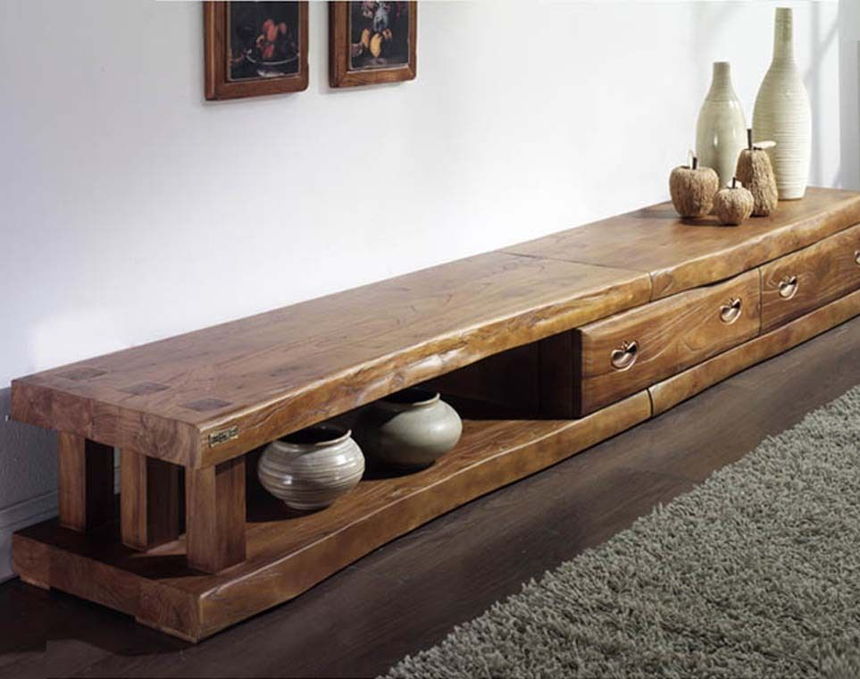Pas cher cor e authentique vieil orme long meuble tv en for Fournisseur de meuble