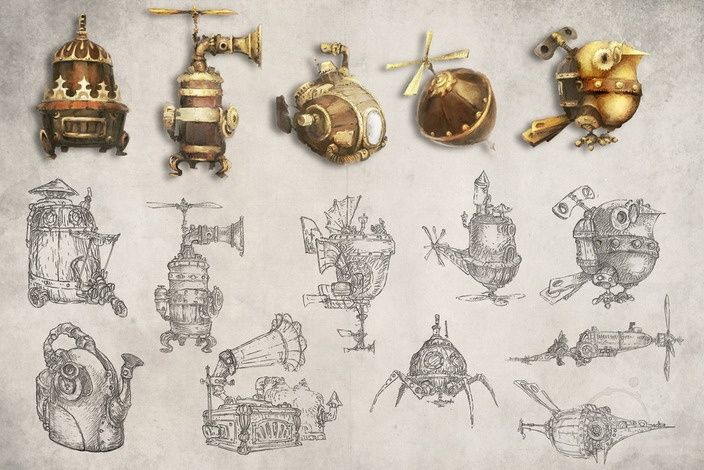 Steampunk drawings