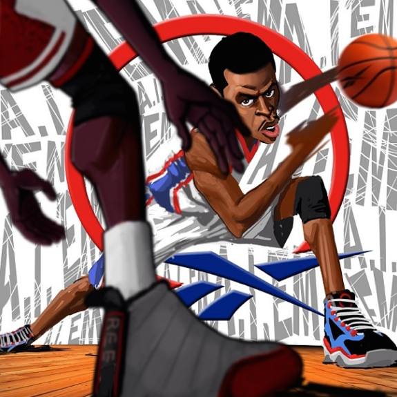 Allen Iverson Hitting Michael Jordan With the Crossover