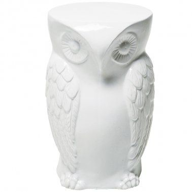 New Wise Owl Stool White Ceramic Stool Bedroom Stools Ceramic