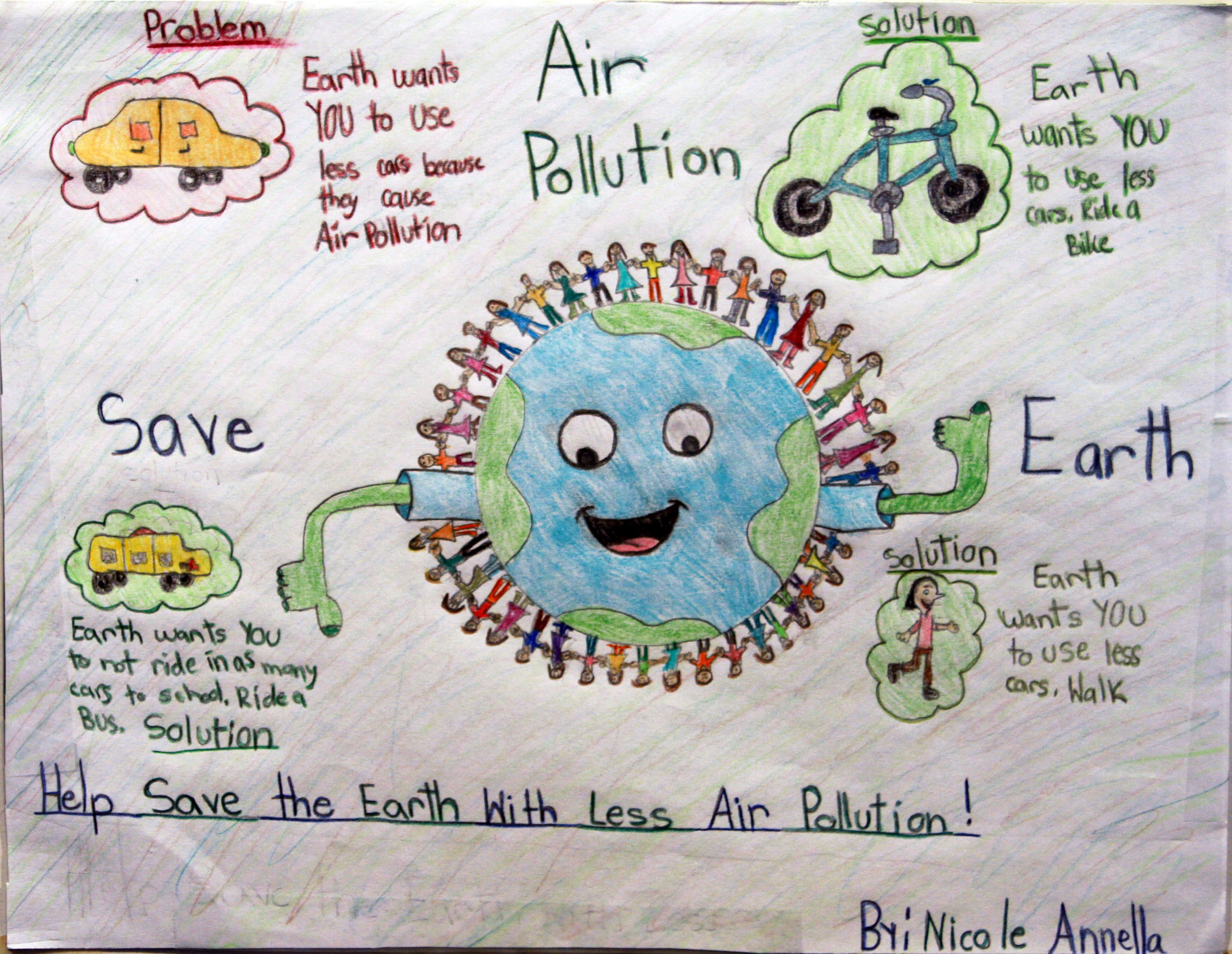 Air Pollution Poster For Kids Air Pollution Poster Air