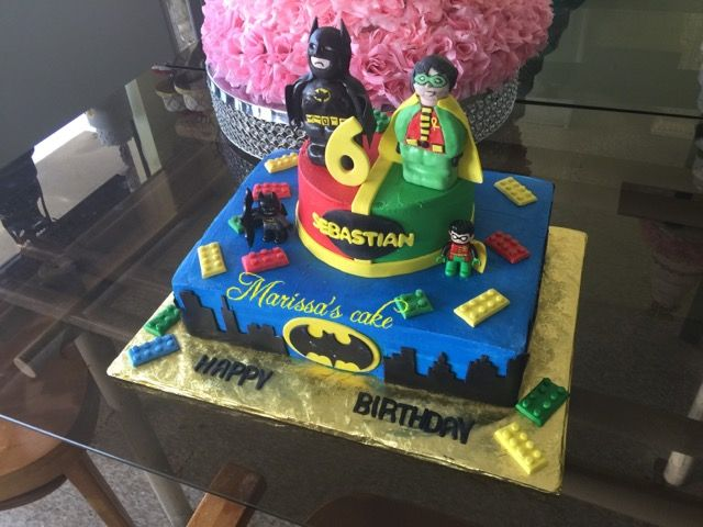Lego Batman And Robin Birthday Cake Visit Us Facebook