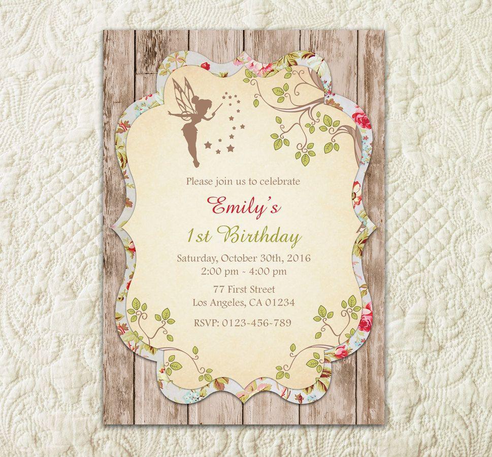 Fairy Invitation Woodland Fairy Invitation Enchanted