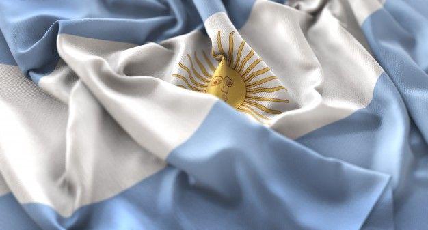 Bandera de argentina foto de estudio ruf... | Free Photo #Freepik #freephoto #fondo #bandera #bokeh #tela