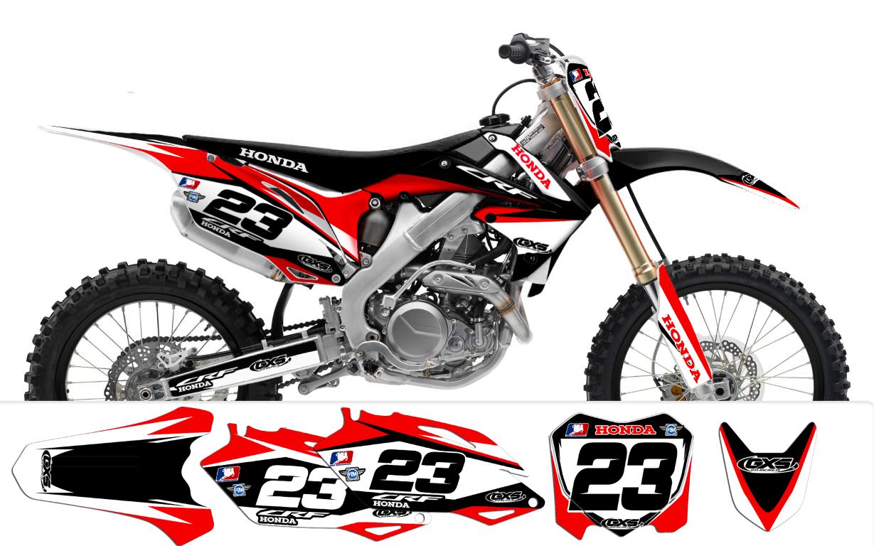 2012 factory13 kit deco pour honda crf 450 2009 2012 et 250 2010 ... 732ba33ea3f