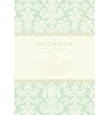 Damask invitation card vector on vectorstock wedding invites damask invitation card vector on vectorstock stopboris Choice Image
