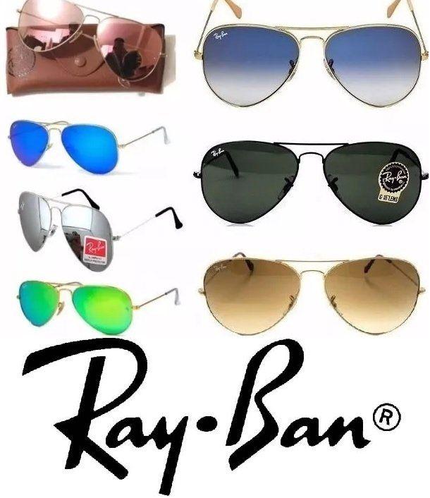 e864c769b7ef7 Aculos Ray ban Aviador Todas as Cores tamanhos Unisex