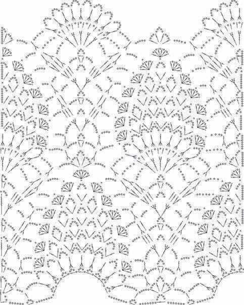 Mis Pasatiempos Amo el Crochet: Patrón de punto piña en serie ...