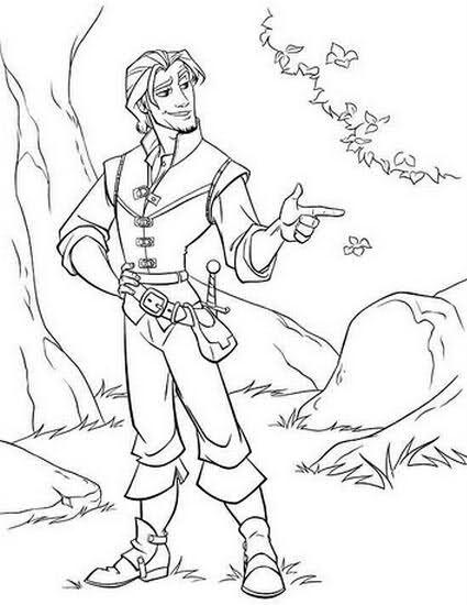 Flynn Rider Coloring