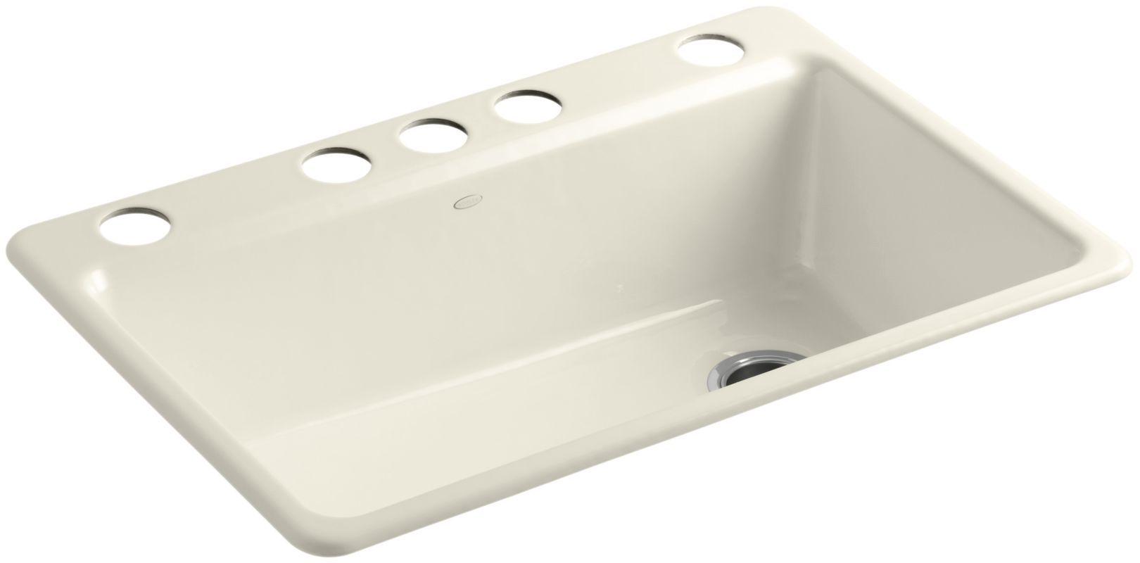 Kohler K 5871 5ua3 Single Bowl Kitchen Sink Cast Iron Kitchen
