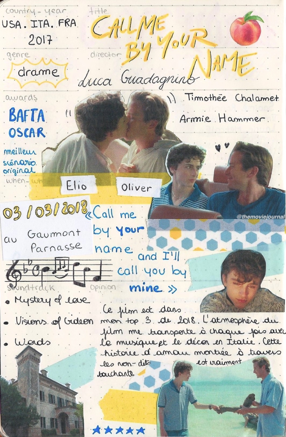 Margot's movie journal