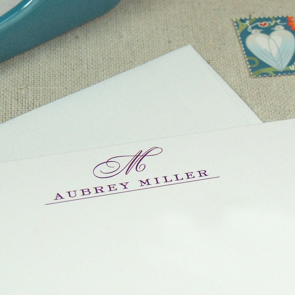 Personalized Papers Executive Stationery: Personalized Notecard Set