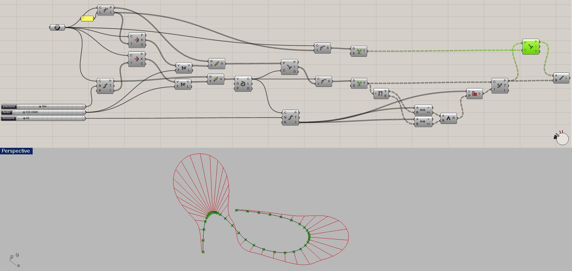 Curve Division Density Wise Grasshopper Modeling Parametric Wiring Diagram