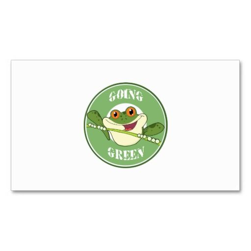 Go green frog business cards eco green business card templates go green frog business cards reheart Image collections