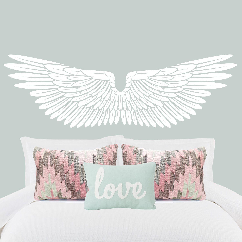 Vinilo cabezal de cama Alas Ideas decoraci n cabeceros dormitorio