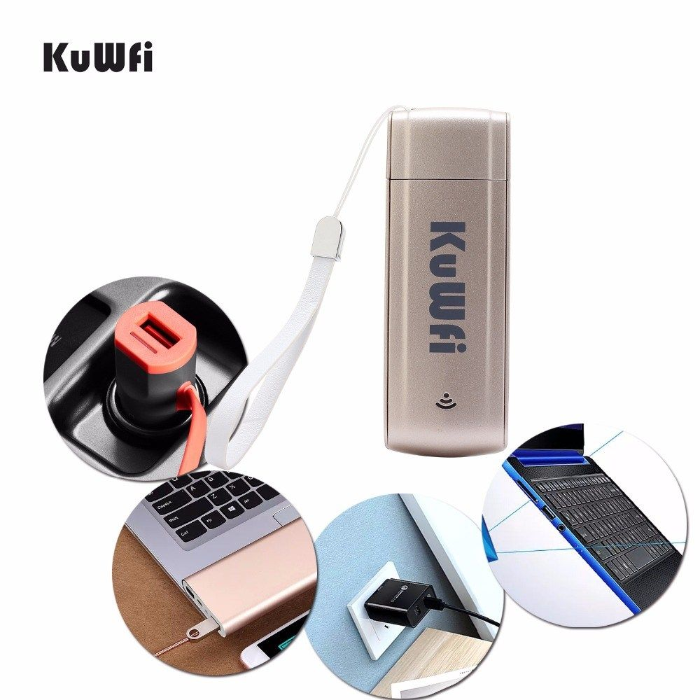 KuWFi USB 4G Modem LTE WiFi Dongle mobile WiFi Network Hotspot mini