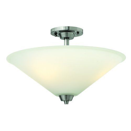 Hinkley Lighting 3662 Brushed Nickel 3 Light Indoor Semi-Flush Ceiling Fixture #HinkleyLighting