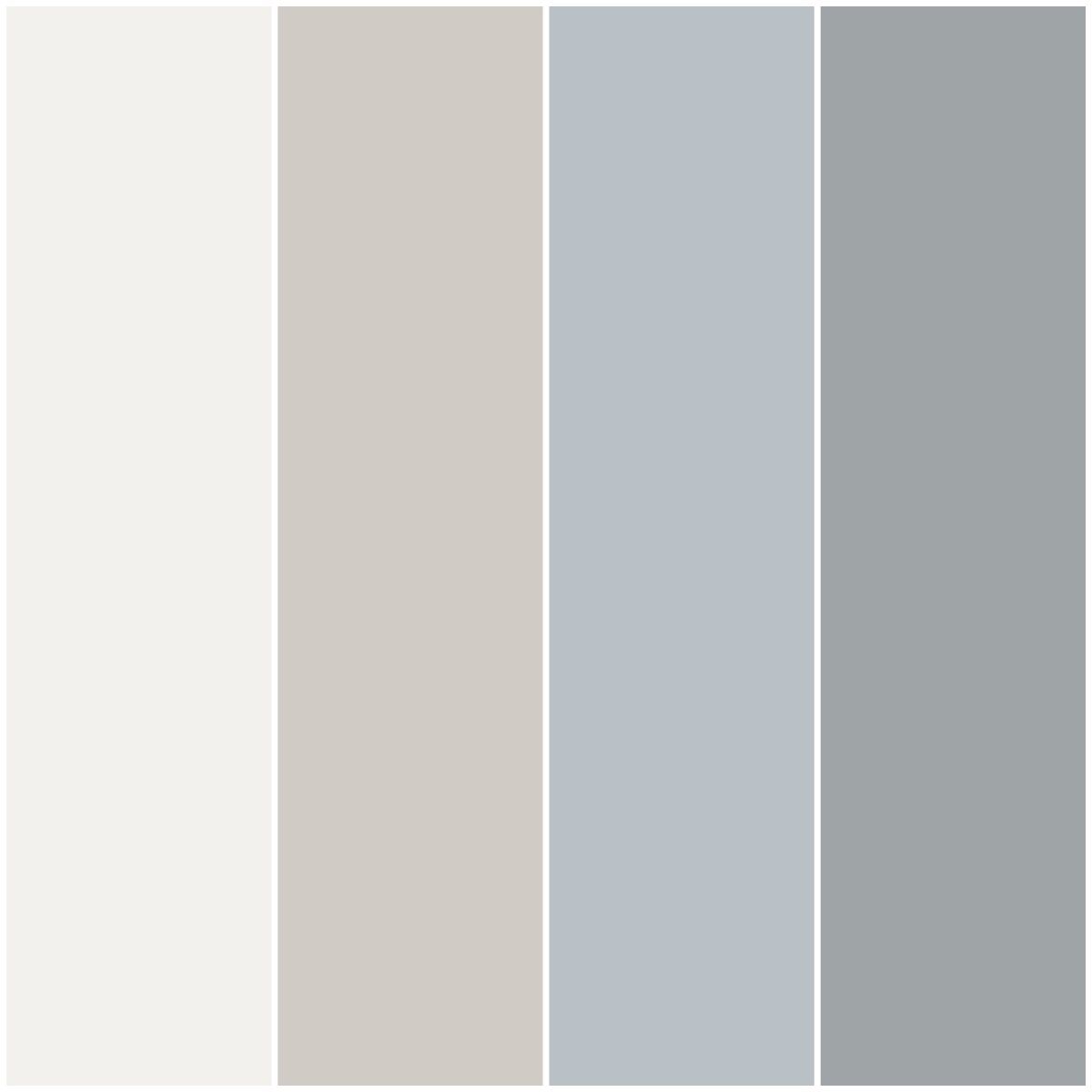 color palette i made for my house with behr paint in nano white